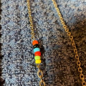 Jewelry - Simple accent chain with colored beads